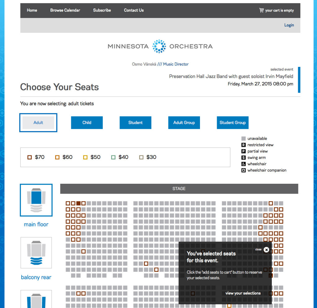 Choose your seats, after