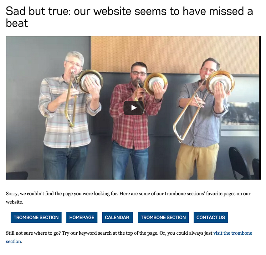 Minnesota Orchestra's new 404 page